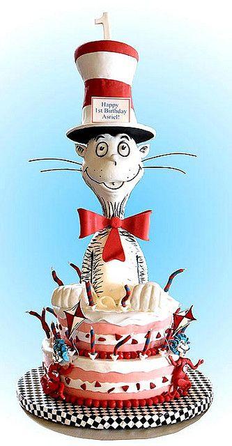 amazing Cat In The Hat cake