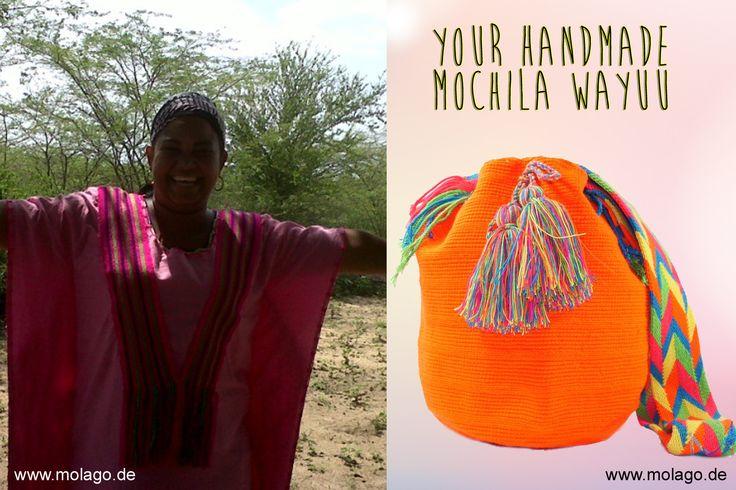 """Wie wirkst du mit einer handgemachten """"Mochila Wayuu"""" Tasche ? 1.) lebendig 2.) modern 3.) stylish 4.) naturbewusst 5.) lebensfroh 6.) auffallend 7.) authentisch Was sind deine Gründe um eine Mochila Wayuu zu tragen ? Shop your Mochila Wayuu on: www.molago.de #wayuu #mochila #handgemacht #handmade #molago #style #mode #fashion #sommer2015 #handgefertigt #tasche #schultertasche"""