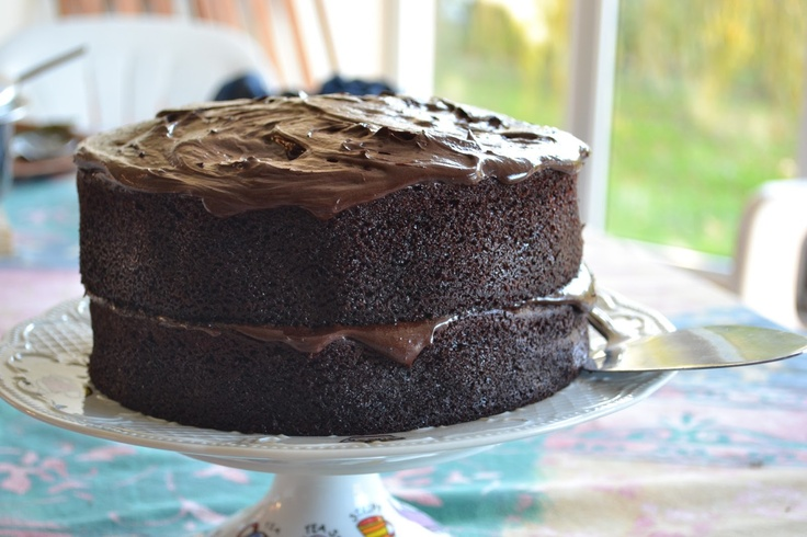 Coffee and chocolate cake with mocha butter icing