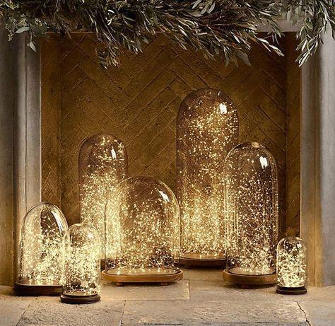 Fill Wedding Bell Lights with Fairy Lights | Industrial Bulbs | grahamandgreen.co.uk | Vintage Lighting | Warehouse Home Design Magazine