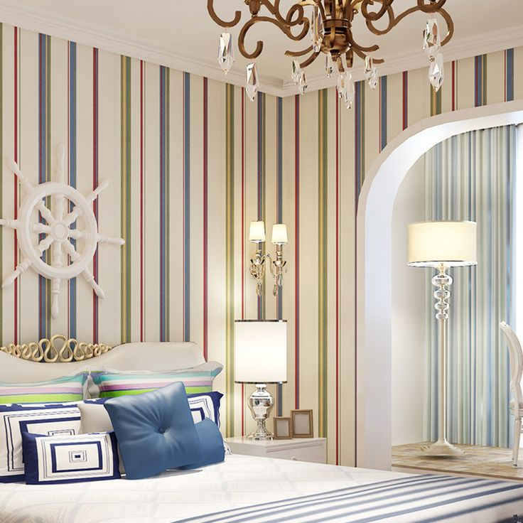 1000 ideas about vertical striped walls on pinterest for Striped wallpaper living room ideas