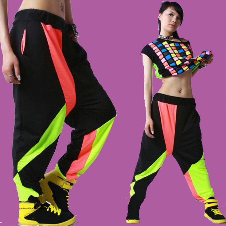 2015 Fashion HipHop Womens Jazz Casual Hit Color Harem Baggy Dance Sport Sweat Pants Trousers Streetwear in 2020 | Fashion. Tomboy fashion. Dance ...