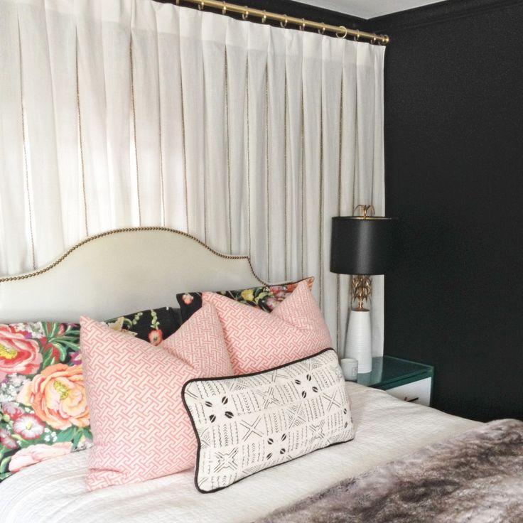Find This Pin And More On Bedrooms Ritva Curtain Wall Behind Bed Design Manifest