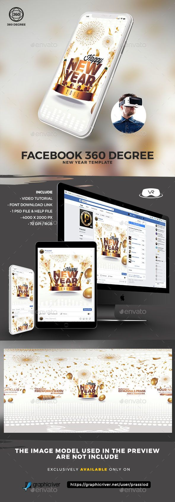 Facebook 360 Degree New Year Template Templates Free Website Templates Videos Tutorial