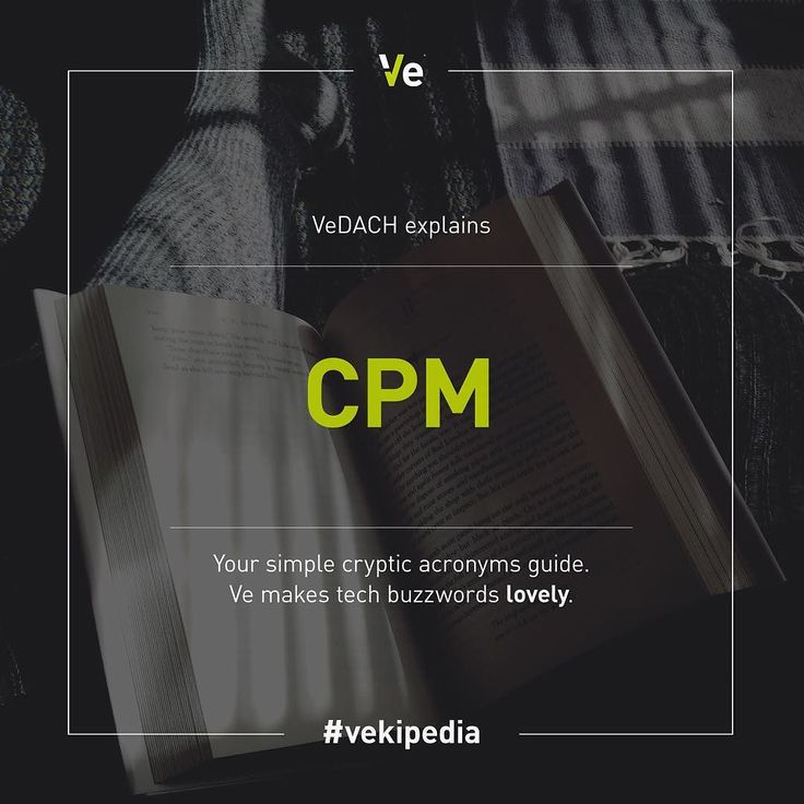 #vedach explains: #CPM. CPM (cost per mille) means the payment of advertisers for every thousand displays of their message to potential customers (mille = Latin = 1.000). #techinsights #tech #advert #advertising #ecommerce #veinteractive #vedach #vekipedia by veinteractive_dach