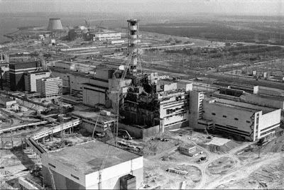 CHERNOBYL ACCIDENT - WHAT HAPPENED IN CHERNOBYL? Nuclear power stations use a radioactive material called uranium as an energy source to make electricity.  Radioactive materials give out energy called radiation. It is a very powerful form of energy that is absorbed by everything around it...