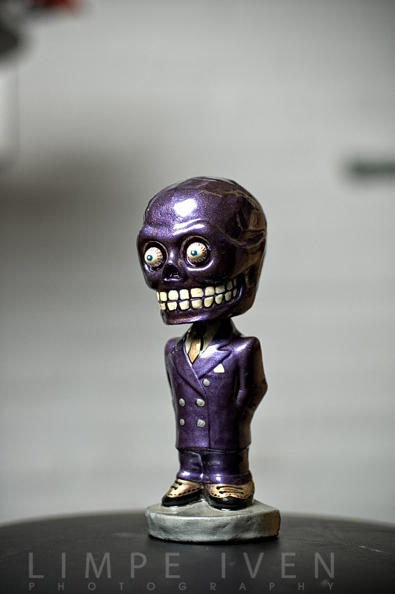 Purple Dude Car Dash Bobblehead Ornament Cool Stuff