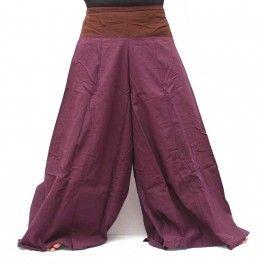 Samurai pantalons en coton magenta