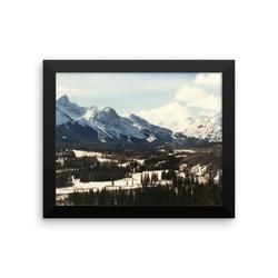 Framed photo paper poster: Kananaskis Country, Alberta