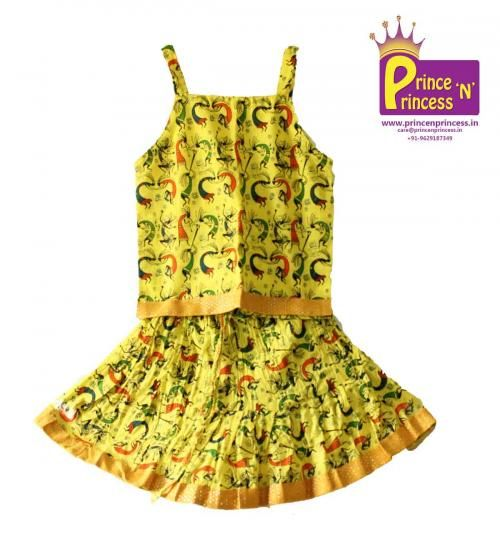 Yellow colour Rajasthani style cotton ghagra choli ( available from 6 Months - 6 years in multiple colours) size: 1.5Y - 2Y Price : Rs 480 Material : Cotton Style : Adjustable stings for choli and partially crushed Skirt Free shipping all over India whatsapp : +91-9629187349  http://www.princenprincess.in/index.php/home/product/352/Yellow%20design%20Rajasthani%20style%20cotton%20Ghagra%20choli  #choli #frock #ghagra #lehenga #kidsfashion #kids #princess #skirt