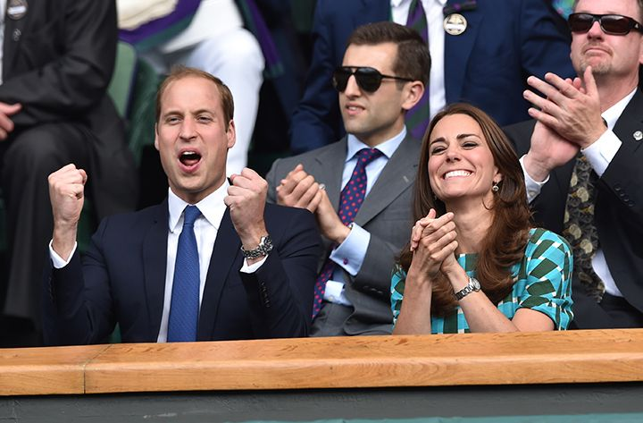 Catherine Middleton and Prince Wiliam at Wimbledon - Elle