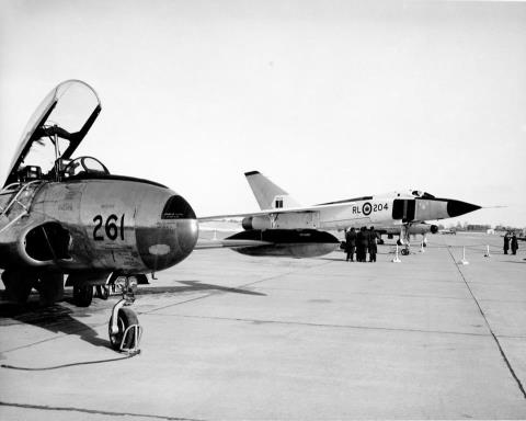 T-33 and CF-105 Arrow. Canada RCAF