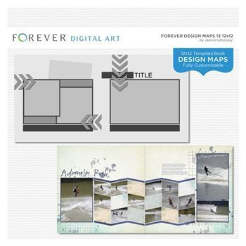 Forever Design Maps 13 12x12 This photo-ready Design Maps template is fully customizable for 12 x 12 or 8 x 8 pages. Includes 1 cover and 21 pages.