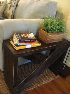 Une belle table à salon que je serais capable de faire :) Un petit rappel si jamais j'ai une table du genre aussi ^^