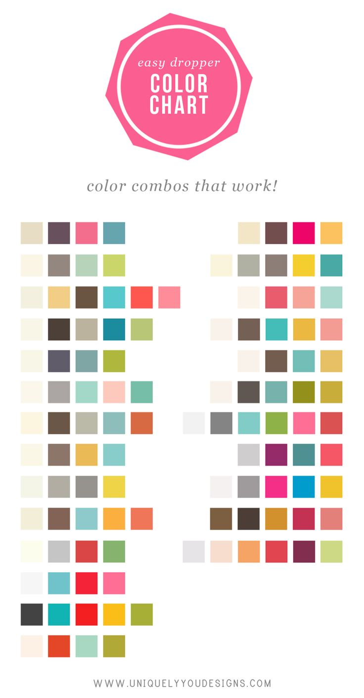 Think outside the box with these color combos via Uniquely You Designs