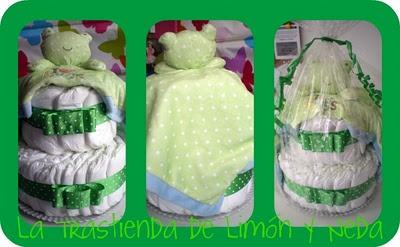 Tutorial tarta de pañales, un regalo para un recién nacido. DIY present for a newborn