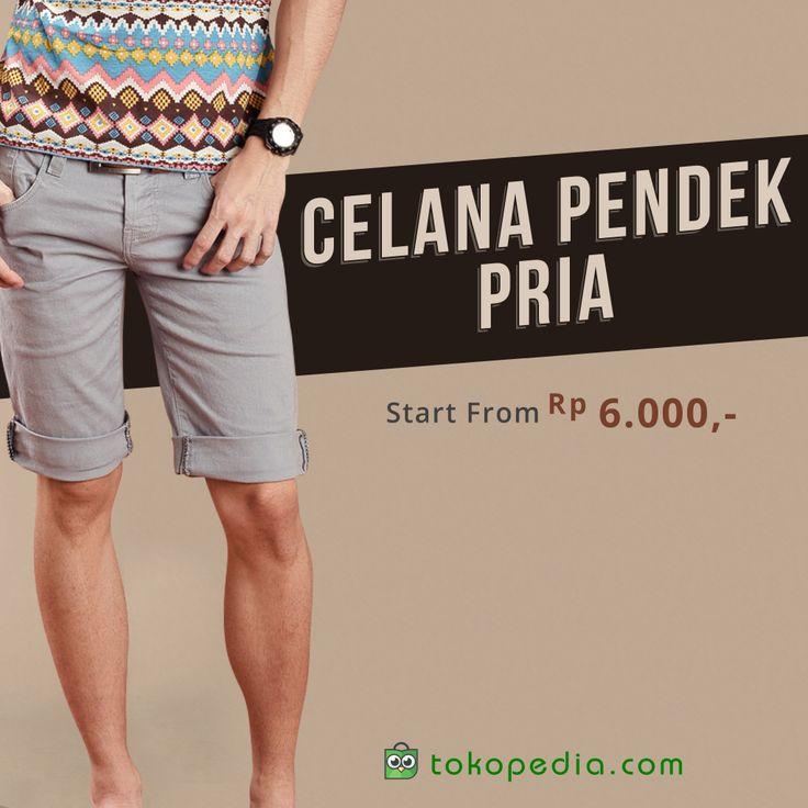 Pria modern menggunakan celana pendek untuk jalan-jalan ke mall, tempat wisata, ataupun sekedar bermain ke rumah teman. Temukan berbagai model celana pendek mulai dari Rp. 6000 dengan klik: http://www.tokopedia.com/p/pakaian/pria/celana-pendek