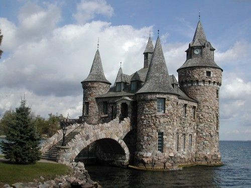 Boldt Castle, located on Heart Island (New York) in the Thousand Islands of the Saint Lawrence River