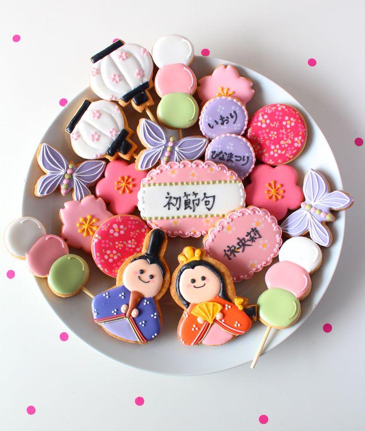 Hinamatsuri icing cookies