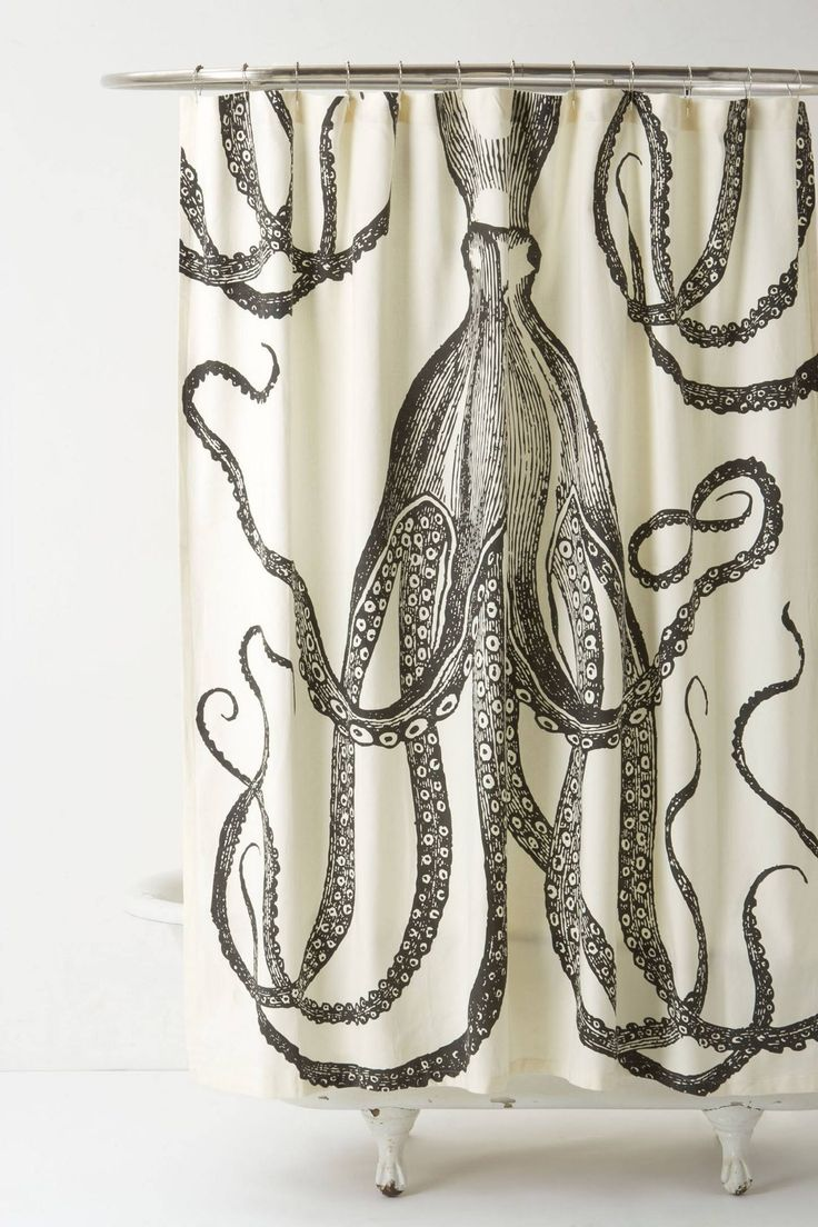 Anthropologie tender falls shower curtain - Octopus Garden Shower Curtain Anthropologie Com