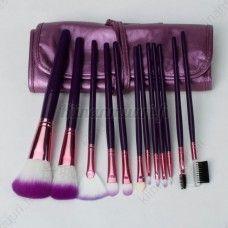 12 osainen meikkiharjasetti + säilytyslaukku