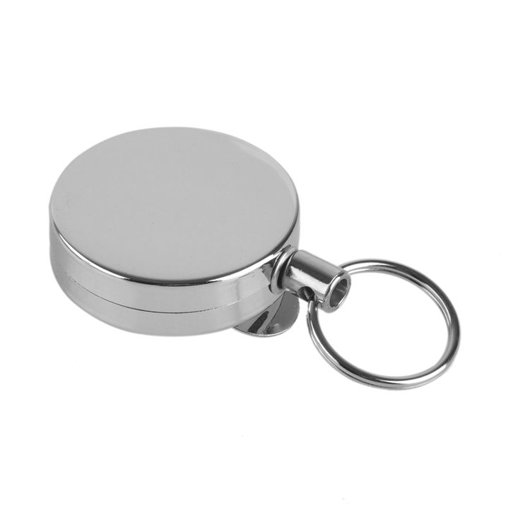 New 4cm EDC Outdoor Camping Steel Rope Burglar Keychain Stalker Tactical Retractable Key Chain Return Key ring Reel Belt Clip