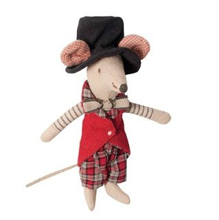 MAILEG CIRCUS MANAGER MOUSE - $26.95 - From the children's Circus range this Circus Manager is perfect for stimulating young minds and develop imaginative thinking and play. Your little one will love to play with the circus characters and perform their very own circus show.  Also a perfect display touch and addition to your child's nursery, bedroom or playroom.   Made from 100% Cotton   Height - 12cm #sweetcreations #kids #gifts #maileg #circus