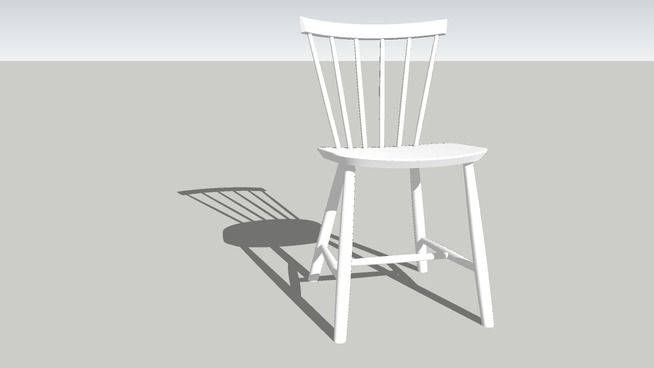 White J46 FDB CHAIR - 3D Warehouse