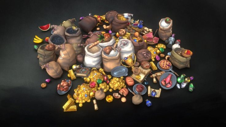 A set of low poly lootable and collectable items for games! Courtesy of Csaba B.!
