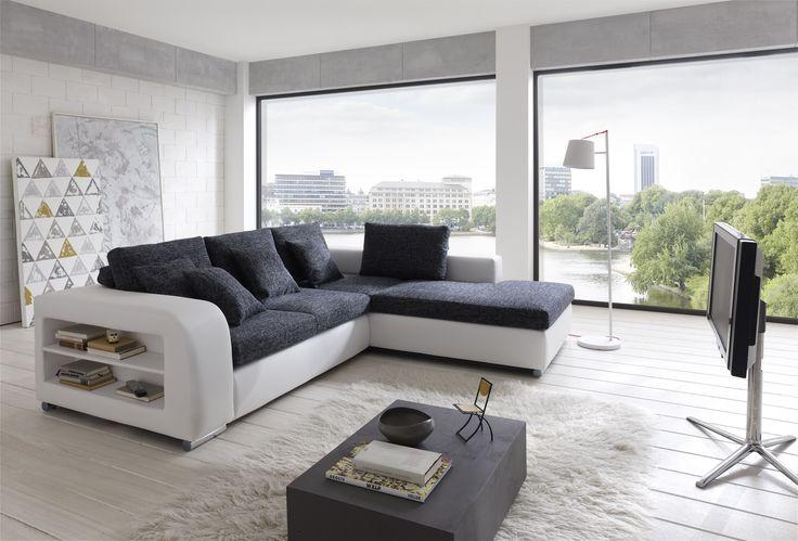 Moderne eckcouch  Ecksofa in U-Form als gemütliche Wohnlandschaft #couch #Wohnzimmer ...