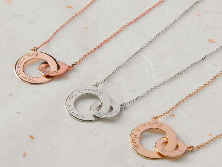 Personalized Intertwined Necklace by Merci Maman