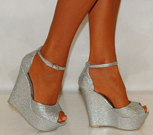 1000  images about wedges silver and glitter on Pinterest