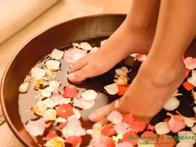 Ванночки от усталости ног