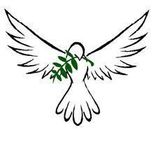 tiny peace dove with olive branch tattoo - Google Search