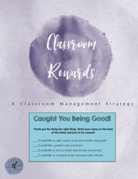 FREE classroom rewards! Encourages student choice by having four different options.