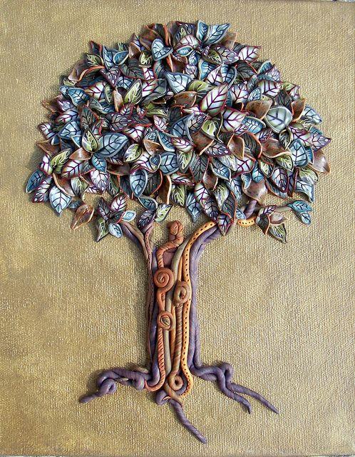 Earth Toned Tree Polymer