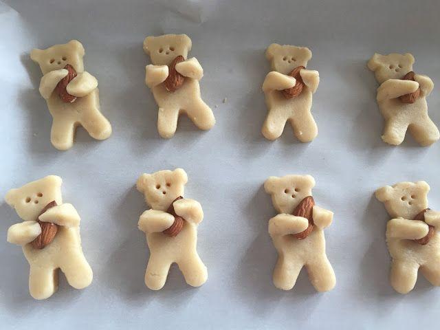 Nut Hugging Teddy Bear Cookies