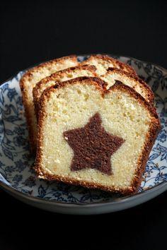 Merry Xmas - Cake marbré étoilé, wow! A tester avec un Coeur surprise pour mes jolies!