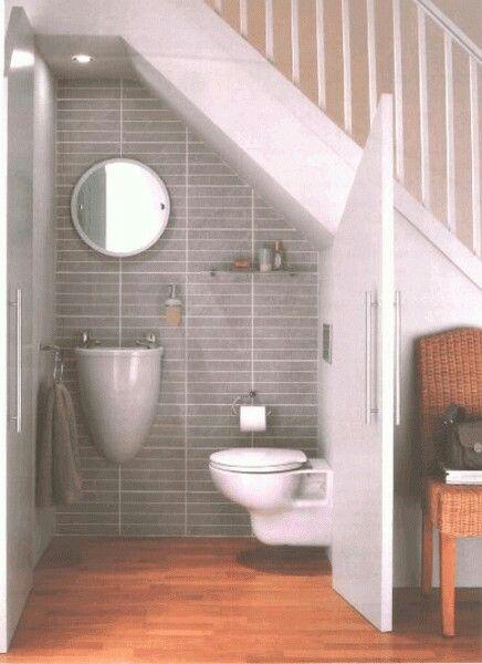 Toalett under trappan | Stairway - trappa | Pinterest