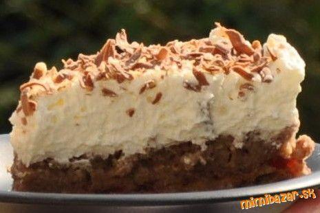 Gaštanová torta NEPEČENÁ jednoduchá a rýchla chutná svieža a mňamózna