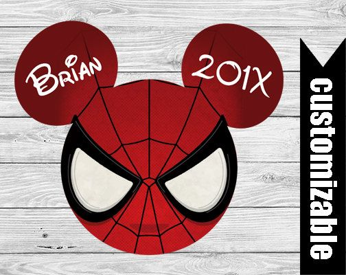 Spiderman Iron On T-shirt Transfer Printable Disney Marvel