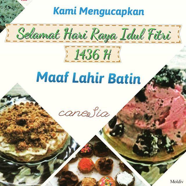 Selamat Hari Raya Idul Fitri 1436 H. Minal Aidin Wal Faidzin. Mohon maaf lahir dan batin. Terimakasih kepada semua yang telah membeli caneSia Ramadhan tahun ini dan semoga tetap menjadi caneSia Lovers. Amin. @roticanecanesia | www.roticanecanesia.blogspot.com #canesia #roticane #rotimaryam #iedmubarak #idulfitri #indonesia #culinary #foodporn #food #maaflahirbatin #foodgasm #foodie #delicious #deliveryorder #onlineshopping
