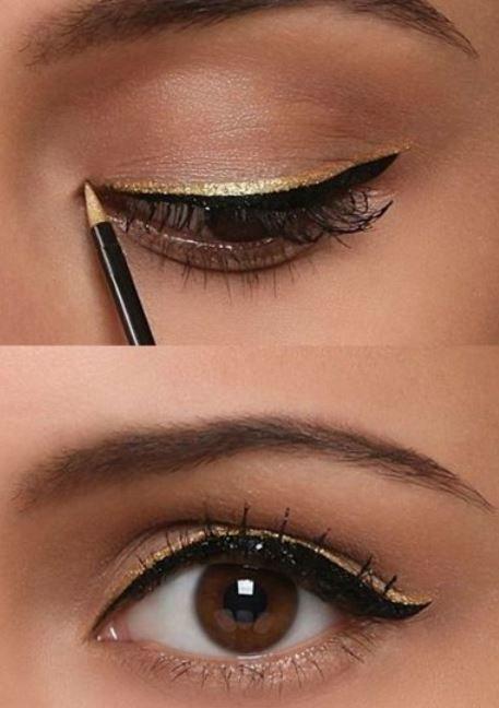 Facile trucco occhi da sera con eyeliner