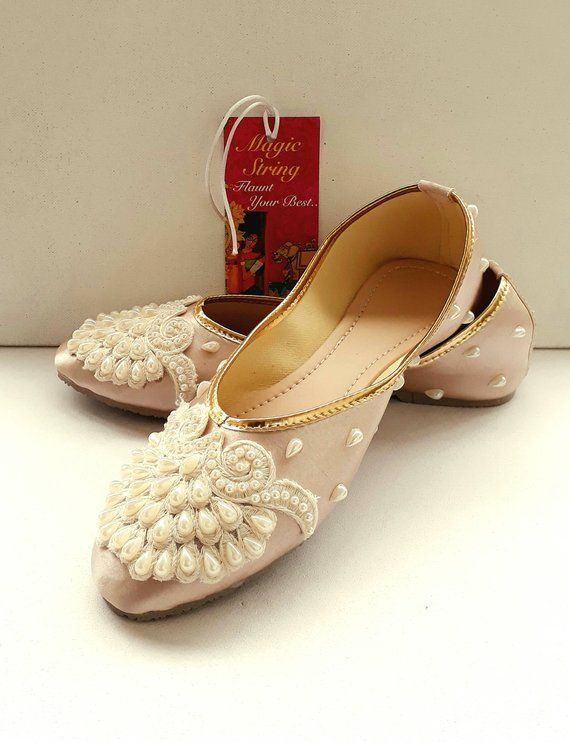 d6cd4f6b6b60 Champagne Flats Gold Flats Wedding Flats Women Ballet Flats Embroidered  shoes Women Shoes Wedding Lace Shoe Pearl Flats in 2019