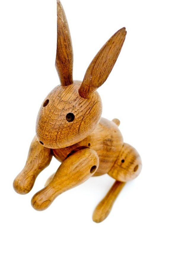 Vintage 1957 Kay Bojesen Rabbit. She's a wonderful person to search for on eBay.