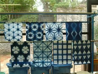 Indigo dye - Japanese traditional method Ita-Jime