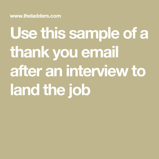 how to write a thank you email after an interview
