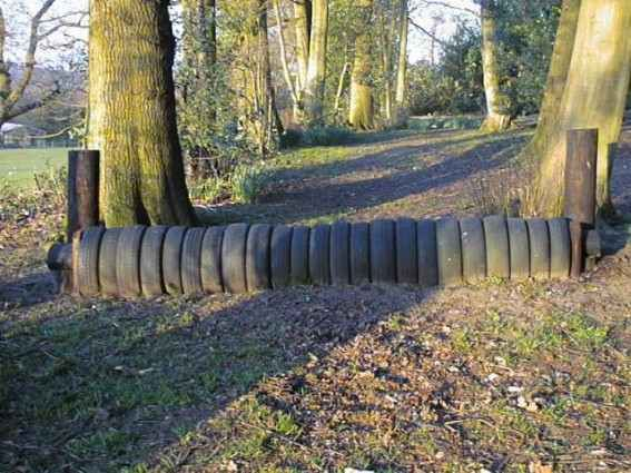 yeah we have tons of tires :) (again I know you don't jump the barrel's but this would be fun and get your horse to listen to you) :O)