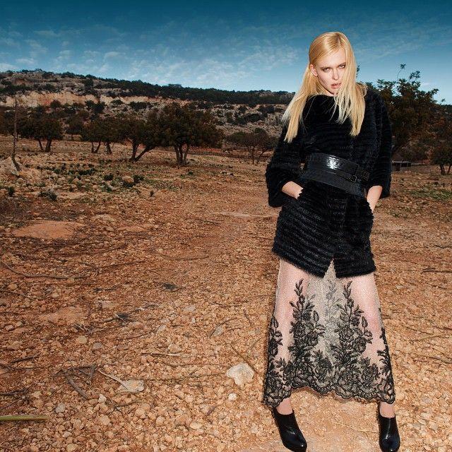Black mink + Wool. #mink #wool#vest #fox #fur #foxfur #furcoat#Blackglama#BlackNafa#vitoponti #braschi