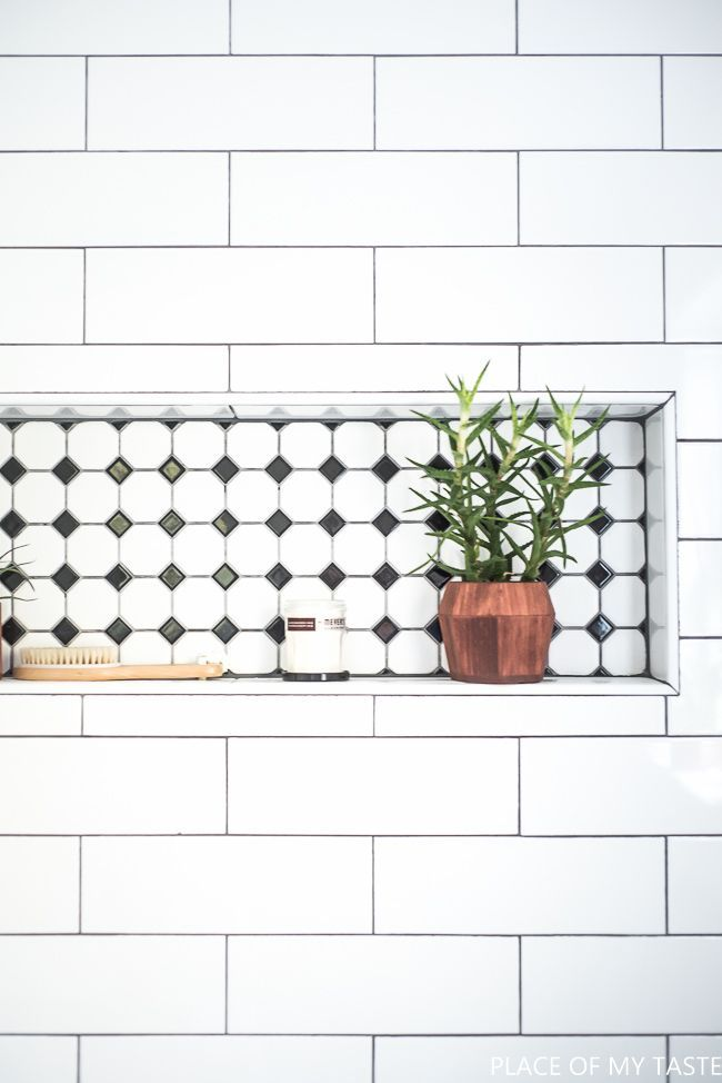 This is a jaw dropping bathroom makeover. You need to see the before and after! Modern, chic bathroom makeover with lots of cool design.